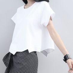 Sonne - Asymmetric-Hem Cropped T-Shirt