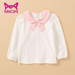 MiiOW - Kids Bow Long-Sleeve T-Shirt