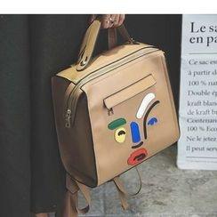 Merlain - Cartoon Faux Leather Backpack