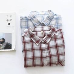 Bonbon - Plaid Long-Sleeve Shirt
