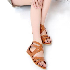 Blingon - Strappy Flat Sandals