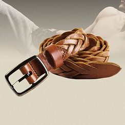 Mannmix - Genuine Leather Woven Belt