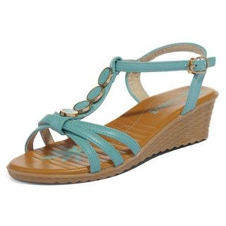 yeswalker - T-Strap Wedge Sandals