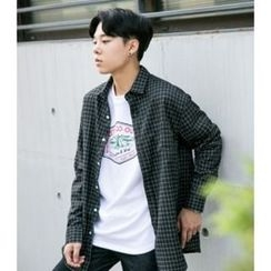 ABOKI - Pocket-Front Striped Shirt