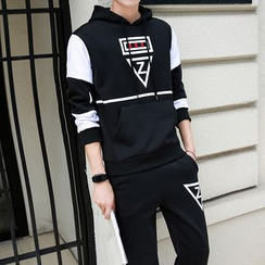 JORZ - Set: Color Block Hoodie + Sweatpants