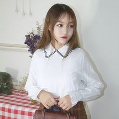 Bloombloom - Petal Collar Blouse