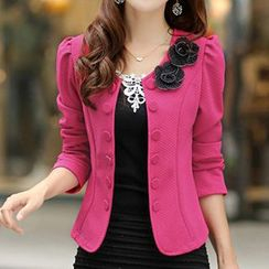 Rocho - Corsage Buttoned Jacket