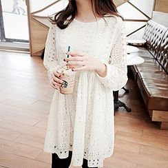 Only Eve - Long-Sleeve Lace Dress
