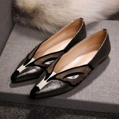 JY Shoes - Fox Applique Pointed Flats