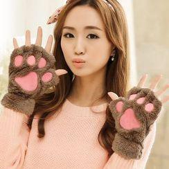 Pompabee - Paw Fingerless Gloves