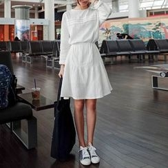 Isadora - Long Sleeve A-Line Dress with Cord