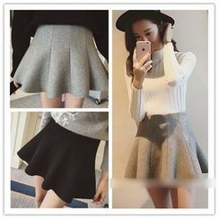 YOSH - Plain Mini A-Line Skirt