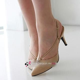 77Queen - Singback Pointy Pumps