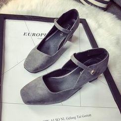 QQ Trend - 粗跟玛莉珍高跟鞋