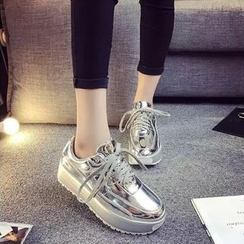 Wello - 厚底閃亮休閒鞋