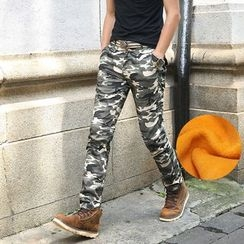 Denimic - Camouflage Straight Leg Pants