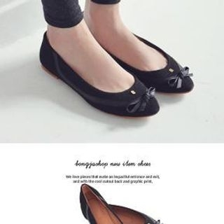 Bongjashop - Ribbon-Accent Initial Flats
