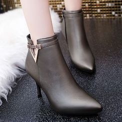 Yoflap - Pointed Heel Ankle Boots
