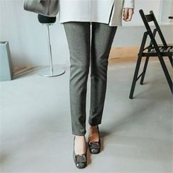 JOAMOM - Flat-Front Straight-Cut Pants