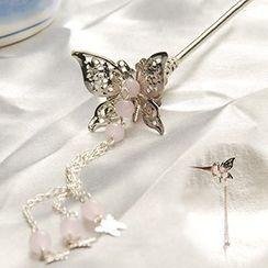 Paparazzi - Butterfly Dangling Hair Pin