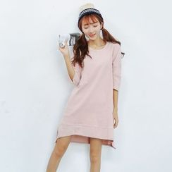GoFlow - Elbow-Sleeve Pullover Dress