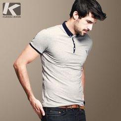 Quincy King - Contrast Trim Polo Shirt