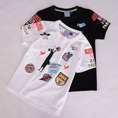 Tulander - 拼布短袖T恤