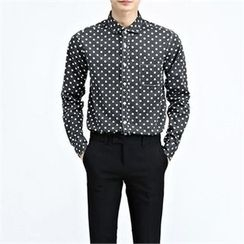 THE COVER - Long-Sleeve Polka-Dot Shirt