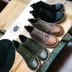 南在南方 - 繫帶踝靴
