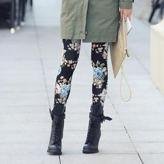 REDOPIN - Floral Print Leggings