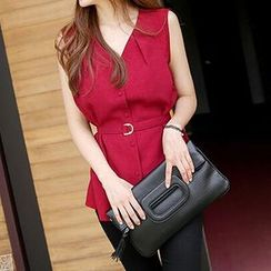 Jolly Club - Sleeveless Belted Blouse