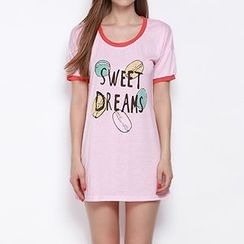 Obel - Short-Sleeve Print T-Shirt Dress