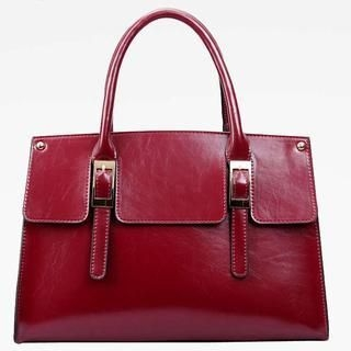 M.R. - Genuine-Leather Buckled Satchel