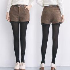Shatan - Lace Trim Shorts