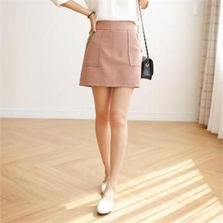 Styleberry - Zip-Detail Mini Skirt