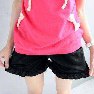 Tokyo Fashion - Elastic-Waist Frilled Shorts