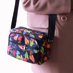 Evora - Print Canvas Crossbody Bag