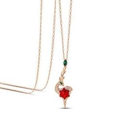 伊泰莲娜 - 施华洛世奇元素水晶麋鹿项链