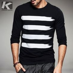 Quincy King - Striped Long-Sleeve T-Shirt