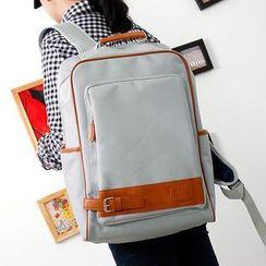 Bag Hub - Faux-Leather Trim Backpack