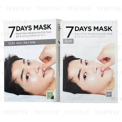 forencos - 7 Days Mask Black Pearl Brightening Silk Mask (Sunday)