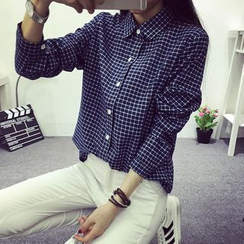 KAKAGA - Long-Sleeve Check Shirt