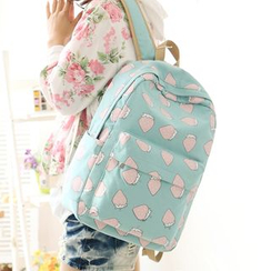 Canvas Love - Strawberry Print Backpack