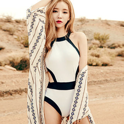 chuu - Cutout Halter Swimsuit