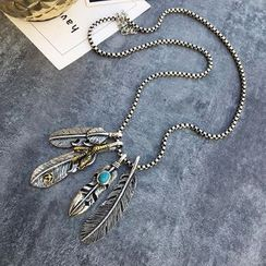 FROME - 羽毛吊坠项链