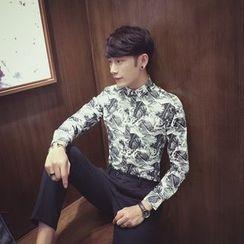 Simsam - Printed Long-Sleeve Shirt