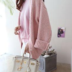 DAILY LOOK - Pocket-Detail Wool Blend Cardigan