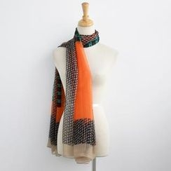 SO Central - Patterned Color-Block Scarf