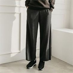 JOAMOM - Band-Waist Fleece-Lined Pants
