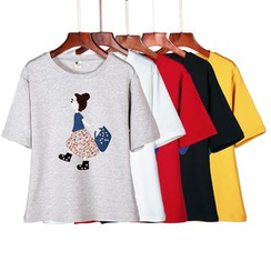 Lina - Short-Sleeve Printed T-Shirt